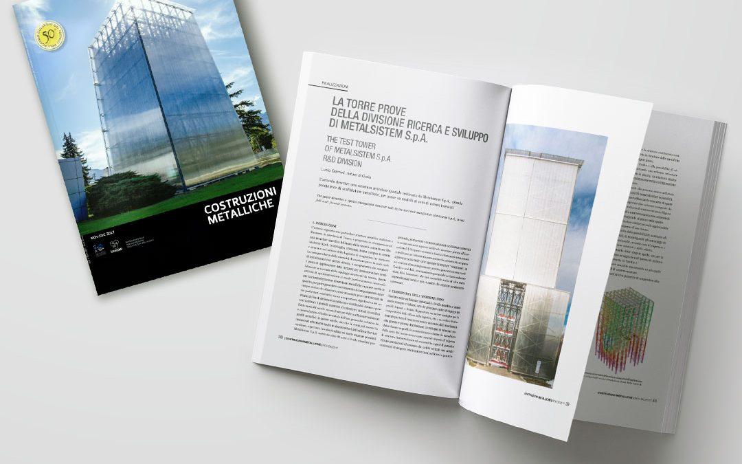 """Rivista """"Costruzioni Metalliche"""" – Articolo sulla Torre Test Antisismici Metalseismic"""
