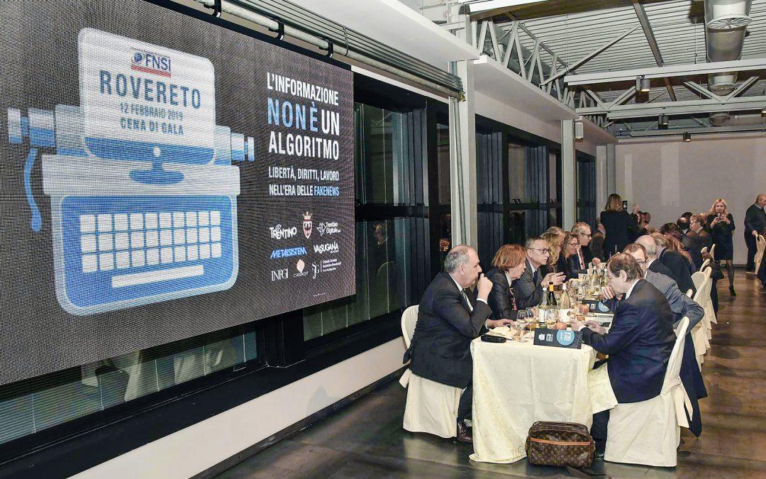 Rovereto – Cena di gala in occasione del 28° Congresso della Federazione Nazionale della Stampa Italiana