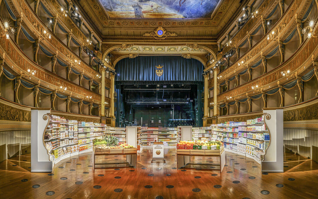 """SIDAC Euroscacco shelving – a protagonist in the """"Interim Measure"""" project, held at the Santa Chiara theatre of Trento"""